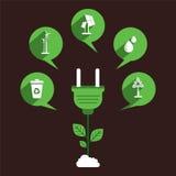 Eco-Energiequellkonzeptdesign Lizenzfreies Stockbild