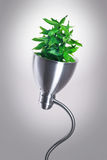 Eco energy. Alternative eco energy saving lamp Stock Photos