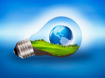 Eco Energy. Abstract bower and eco backgrounds Stock Image