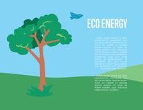 Eco energy banner. Natural landscape Stock Images