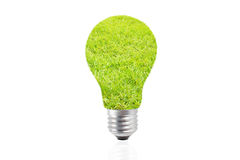 Eco energy bulb in grass - green energy concept Stock Image