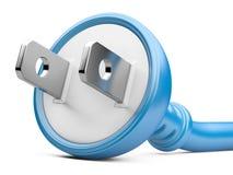 Eco energy concept. electric plug Stock Photography