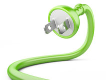Eco energy concept. electric plug Stock Image
