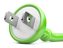 Eco energy concept. electric plug Royalty Free Stock Photos