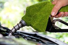 Eco energy concept. Fill up the gas tank, eco energy concept Stock Images