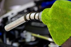 Eco energy concept. Fill up the gas tank, eco energy concept Royalty Free Stock Photography