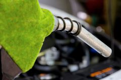 Eco energy concept. Fill up the gas tank, eco energy concept Royalty Free Stock Photos