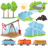 Eco Energy Design Concept Set Stock Image