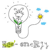 Eco energy,  drawing. Eco energy; ecology and environment protection,  drawing ; isolated on background Royalty Free Stock Image