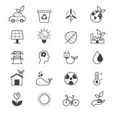 Eco Energy and Environment Icons Line Stock Photo