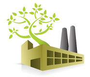 Eco energy factory vector illustration