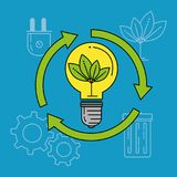Eco energy go green environmental and ecology concept. Vector illustration graphic design Royalty Free Stock Image