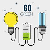 Eco energy go green environmental and ecology concept. Vector illustration graphic design Royalty Free Illustration