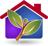 Eco energy home Royalty Free Stock Photos