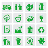 Eco energy icons stock illustration