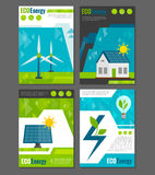 Eco energy icons poster Royalty Free Stock Photos