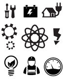 Eco energy icons Royalty Free Stock Photos