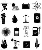 Eco energy icons set Royalty Free Stock Photography