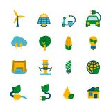 Eco Energy Icons Set Stock Photography
