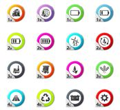 Eco energy icons set Royalty Free Stock Photos
