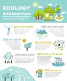 Eco Energy Infographics Stock Photography