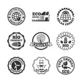 Eco energy labels set Royalty Free Stock Photography