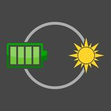Eco energy logo Royalty Free Stock Photo