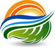 Eco energy logo. Illustration art of a Eco energy logo with isolated background Stock Image