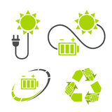 Eco energy logo. Recycle, energy saving symbols. Royalty Free Stock Photos