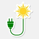 Eco energy logo Royalty Free Stock Images