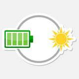 Eco energy logo. Vector icon Stock Images