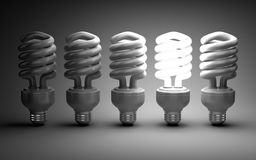 Eco energy saving light bulb concept Stock Image
