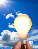 Eco energy-solar energy Stock Photography