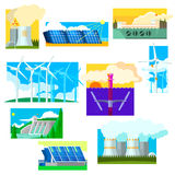 Eco Energy Symbols Set. Vector Illustration Royalty Free Stock Images