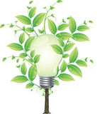 Eco energy tree vector concept Royalty Free Stock Photos