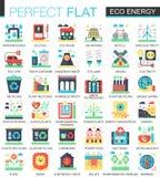 Eco energy vector complex flat icon concept symbols for web infographic design. Stock Image
