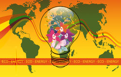 Eco Energy World Royalty Free Stock Image