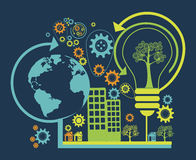 Eco enviroment design Stock Image