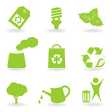 Eco and environment icon set Stock Images