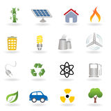 Eco and environment icons. Eco and environment related icon set Royalty Free Stock Images