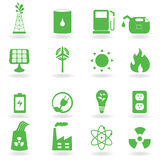 Eco and environment icons royalty free illustration