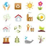 Eco and environment icons. Eco and environment icon set Royalty Free Stock Photos