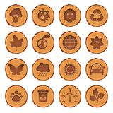 Eco and environment icons set Royalty Free Stock Photo
