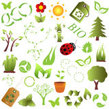 Eco and environment objects Royalty Free Stock Images