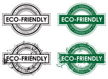Eco Environment Stamp. An eco-friendly environment Rubber stamp set Royalty Free Stock Photo