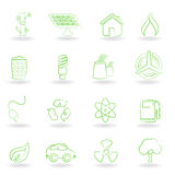 Eco and environment symbols Royalty Free Stock Photo