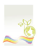 Eco / Environmental Theme. (Earth, rainbow and a little plant Stock Photos
