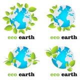 Eco Erdezeichen lizenzfreie abbildung