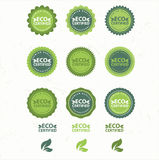 Eco et bio collection de labels Photos libres de droits