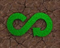 ECO et concept circulaire d'économie Photographie stock libre de droits